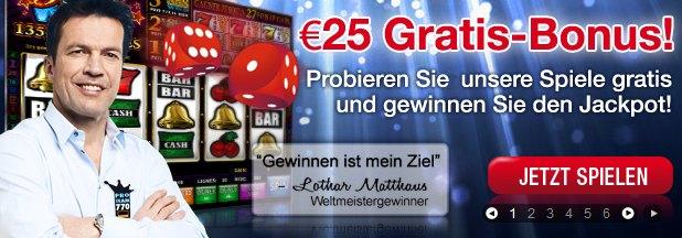 Casino770  Free Bonus 25 Euro - ohne Einzahlung