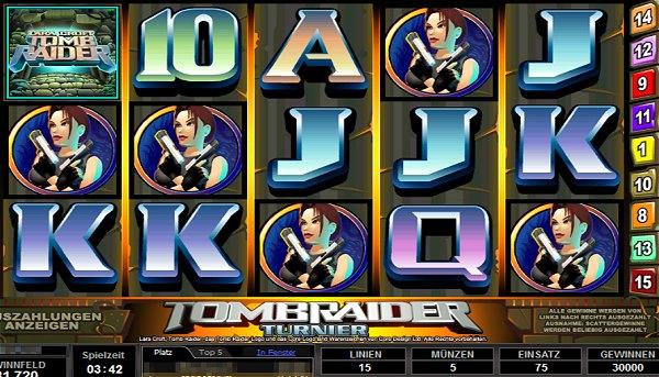 400 Prozent Bonus plus 20 Freispiele Tomb Raider