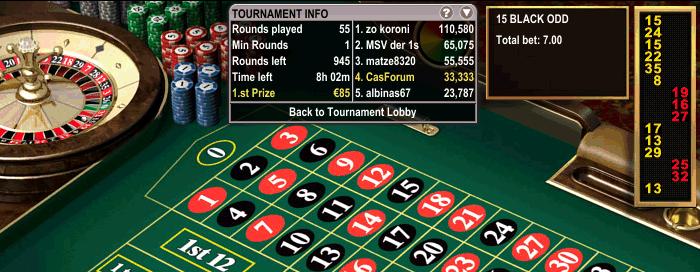 Online Roulette Turnier der Boss Media Casinos. Vom Blackjack Heaven Casino aus spiele ich unter dem Namen Casforum mit und bin zur Zeit im Preisgeld-Bereich