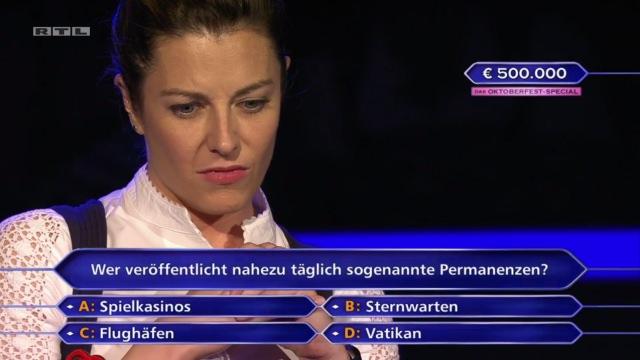 Stell' dir vor, du schaffst es bei der Wer wird Millionär Rateshow bis zur 500.000 Euro Frage, kennst dich etwas mit Roulette und Permanenzen aus und dann kommt so eine leichte Permanenzen-Frage...