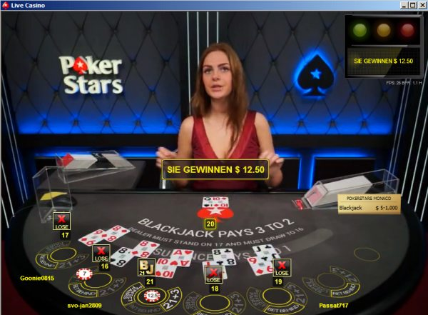 live blackjack pokerstars