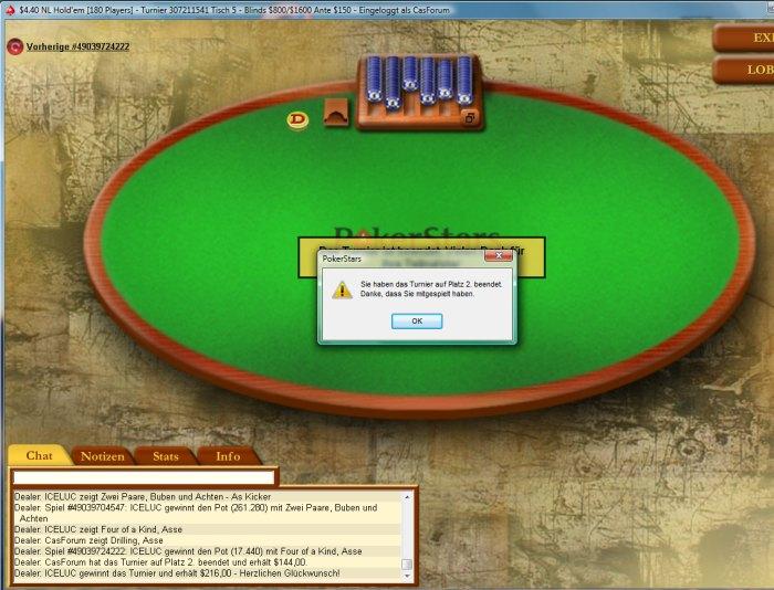 CasForum Poker Turnier Tagebuch