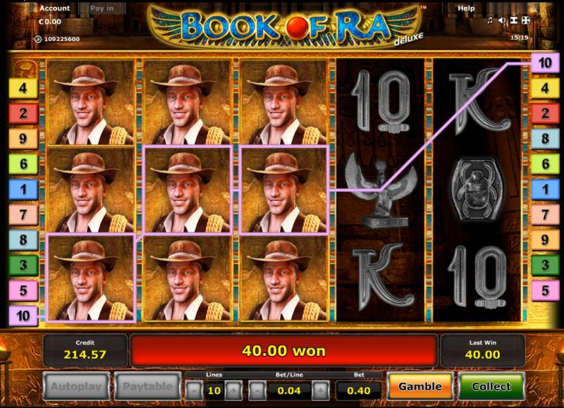 Book of Ra Casinotest - 1000fache Auszahlung beim Freispiel