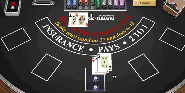 Blackjack 16 vs 10