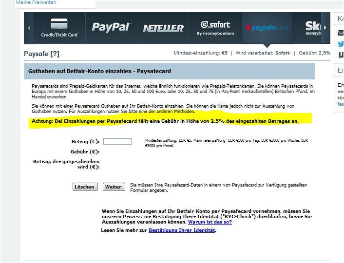 paysafecard aufs konto einzahlen