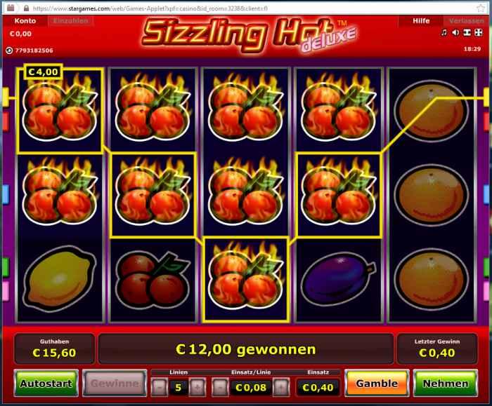 online casino forum sizzling
