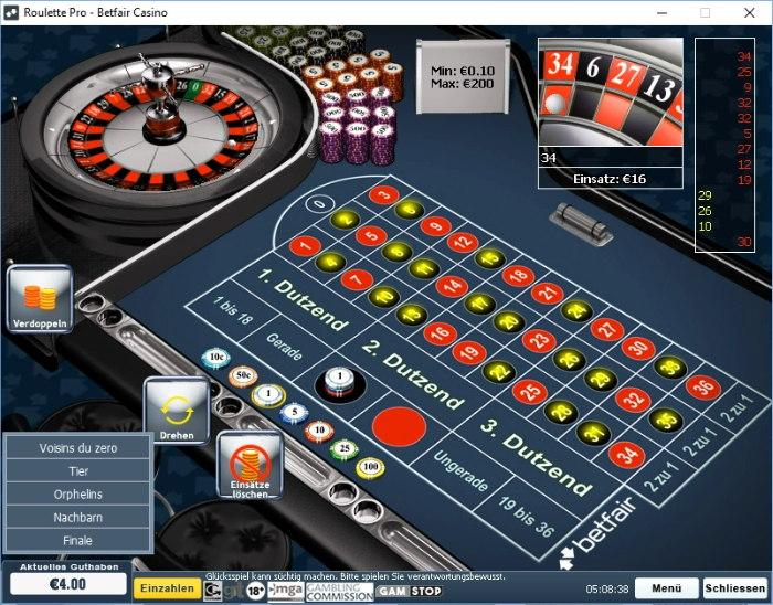 Casino-Sperre wegen Martingale-Spiel?