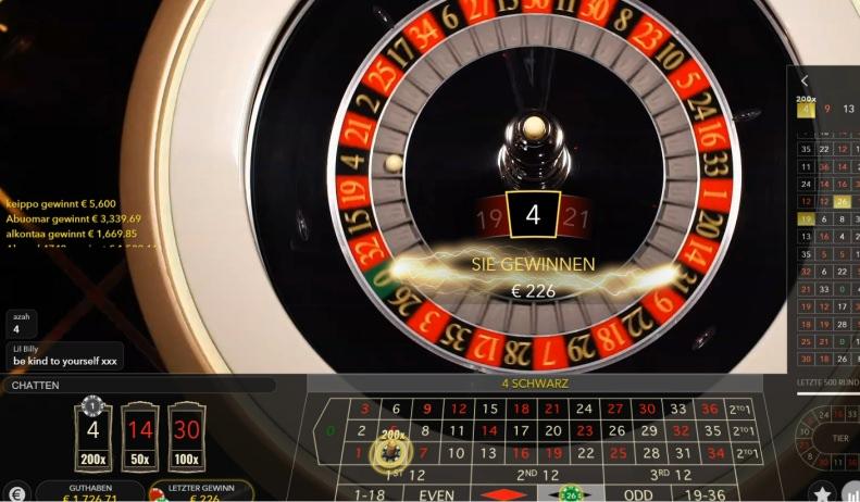 Lightning Roulette getestet - Live Roulette mit bis zu 500x Auszahlung