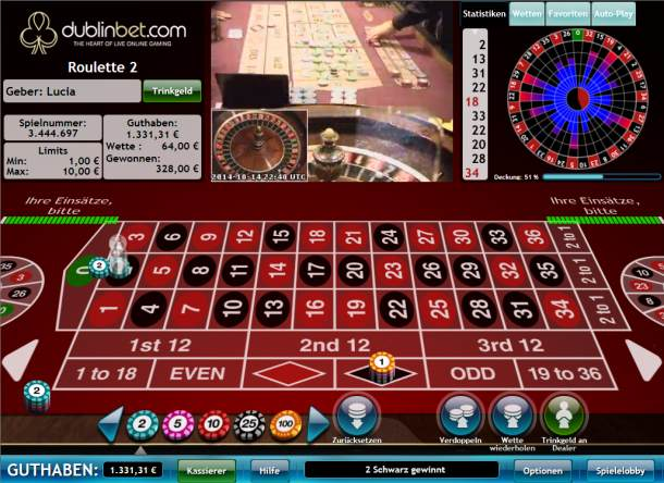 roulette gewinn zahl