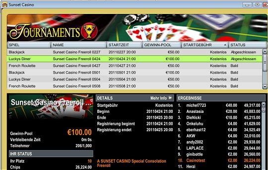 sunset casino online