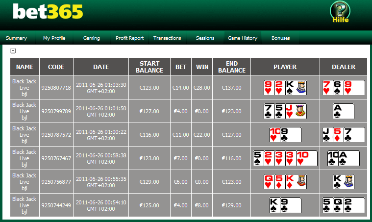 bet365 casino test
