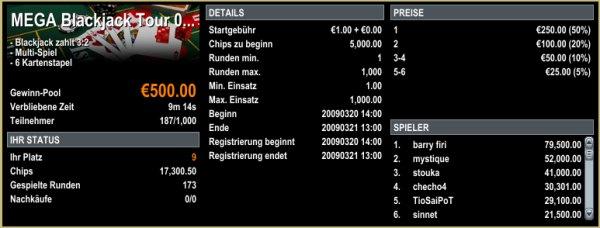 Blackjack Turnier - Boss Media Casinos